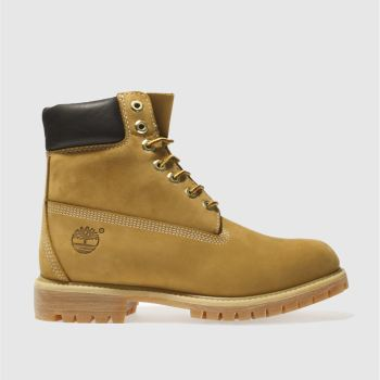 Timberland Natural 6-inch Premier Tan Leather Boots