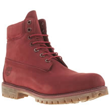 Timberland Red 6 Inch Premium Mens Boots