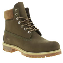 Timberland Green 6 Inch Premium Mens Boots
