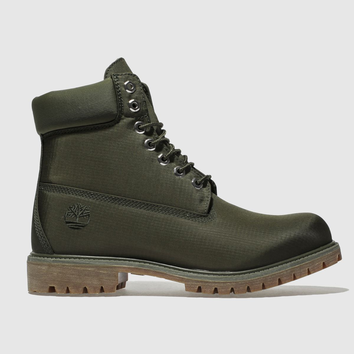 Timberland Green 6 Inch Premium Fabric Boots