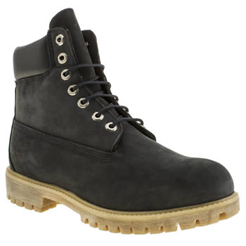 Mens Timberland Navy 6 Inch Premium Boots