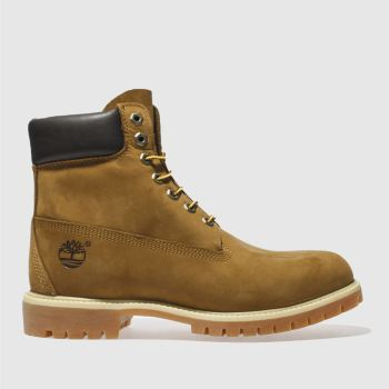 Mens Timberland Tan 6-inch Premier Brown Leather Boots