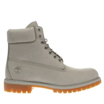 Timberland Light Grey 6 Inch Premium Boots