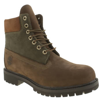 Mens Timberland Dark Brown 6 Inch Premium Beef & Broccoli Boots