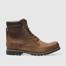 Timberland Dark Brown 6 Inch Rugged Brown Boots