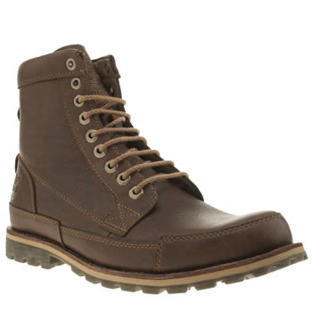 Mens Timberland Dark Brown Earthkeepers Original 6 Boots