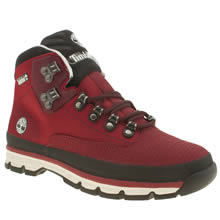 Timberland Red Euro Hiker Mid Jacquard Boots
