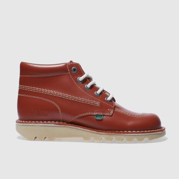 Mens Kickers Red Hi Boots