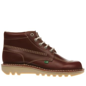 Mens Kickers Burgundy Kick Hi Boots