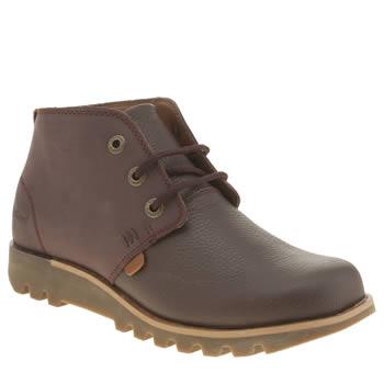 Kickers Burgundy Kick Hi Chukka 2 Boots