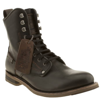 mens caterpillar black orson boots
