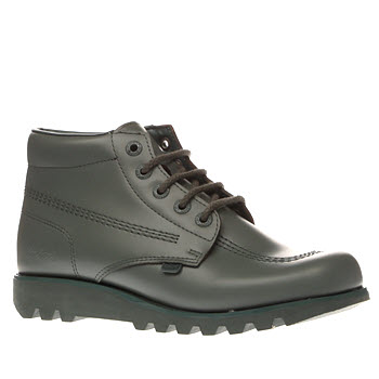 Kickers Dark Green Kick Hi Colour Mens Boots
