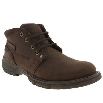 Mens Caterpillar Dark Brown Depict Hi Boots