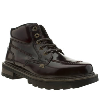 Mens Kickers Burgundy Stargent Boots