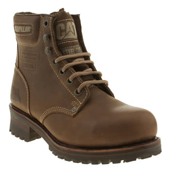 Cat-Footwear Brown Sequioa 6inch Mens Boots