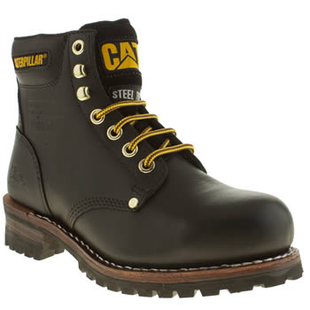 mens caterpillar black sequoia 6inch boots