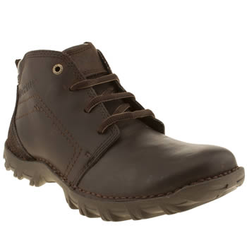 Mens Caterpillar Dark Brown Transform Boots