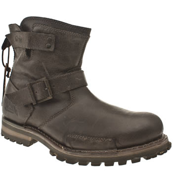 Mens Caterpillar Dark Brown Vern Boots