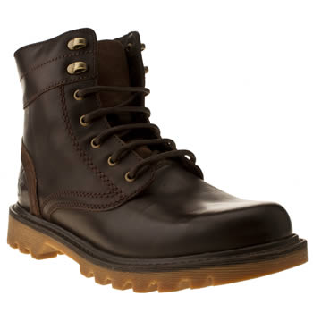 mens caterpillar dark brown utility 6 boots