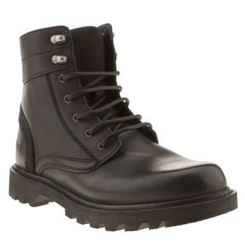 mens caterpillar black furbish utility 6 boots