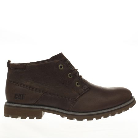 mens brown cat footwear harold boots