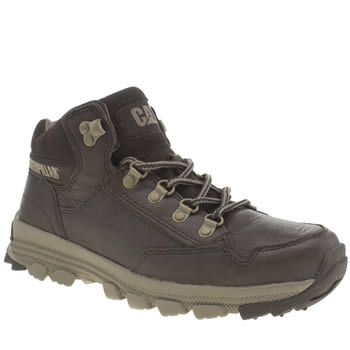 Mens Cat-Footwear Dark Brown Interact Mid Boots
