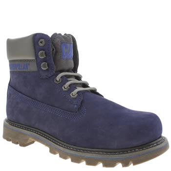 Mens Cat-Footwear Navy Colorado Boots