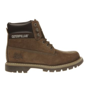 Mens Cat-Footwear Dark Brown Colorado Boots