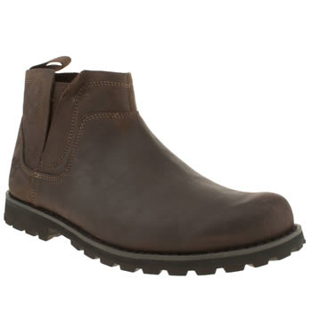 mens timberland dark brown rugged chelsea boots