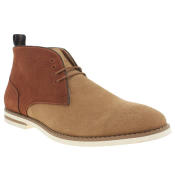 Peter Werth Beige & Brown Nesbit Chukka Boots