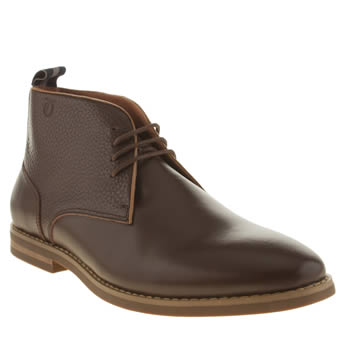 Mens Peter Werth Dark Brown Nesbitt Chukka Boots