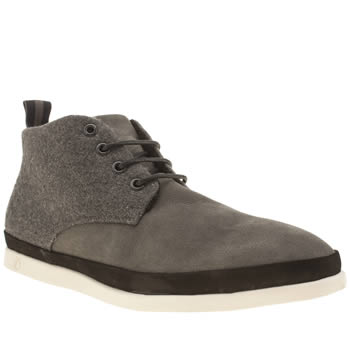 Mens Peter Werth Grey & Black Cain Chukka Boots