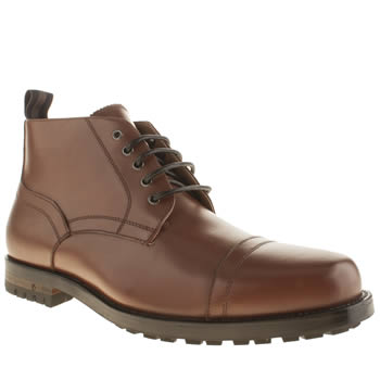 Mens Peter Werth Tan Hardy Boots