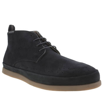 Peter Werth Navy Caine Perf Chukka Boots