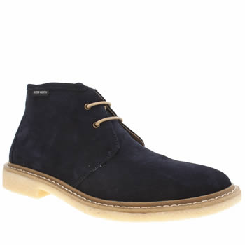 Mens Peter Werth Navy Elba Desert Boot Boots