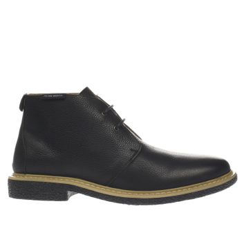 Peter Werth Black Elba Desert Mens Boots