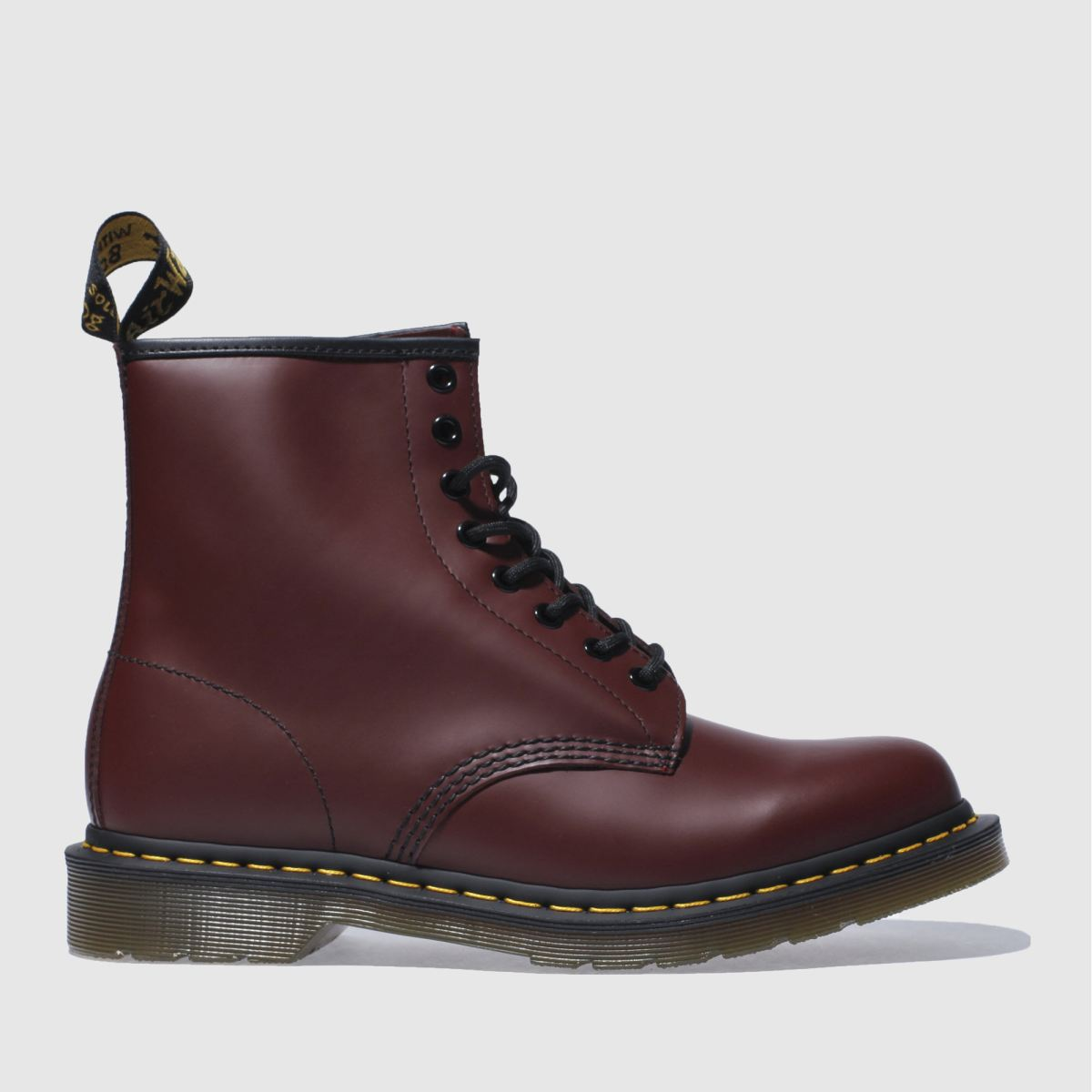 dr martens burgundy 8 tie boots