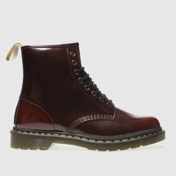 Dr Martens Burgundy Vegan 1460 8-Eye Mens Boots