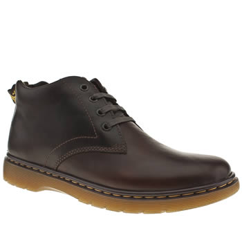 mens dr martens dark brown barnie chukka boots