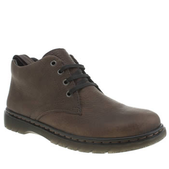 Mens Dr Martens Dark Brown Revive Barnie Boots