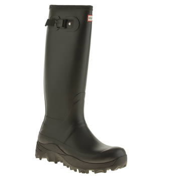 Mens Hunter Black Original Snow Tall Boots
