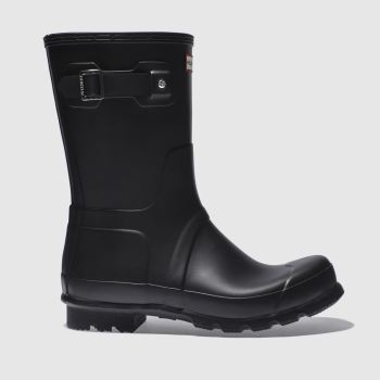 Hunter Black Original Short Mens Boots