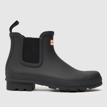 Mens Hunter Black Original Chelsea Boots