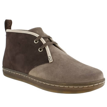 mens dr martens beige & brown eclectic tesh boots