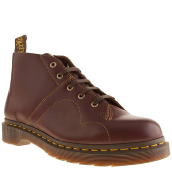 Mens Dr Martens Burgundy Church Monkey Boot Boots