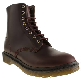 mens dr martens burgundy pascal 8 eye boot boots