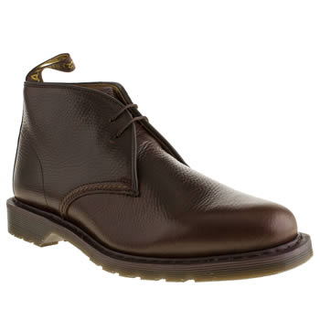 Mens Dr Martens Dark Brown Sawyer Desert Boots
