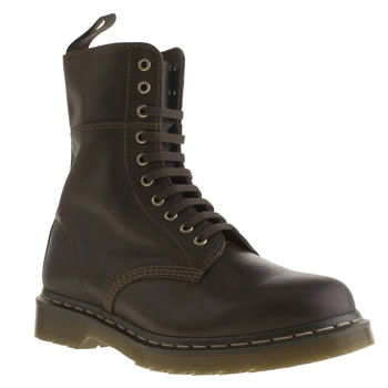 mens dr martens dark brown bart 10 eye boots