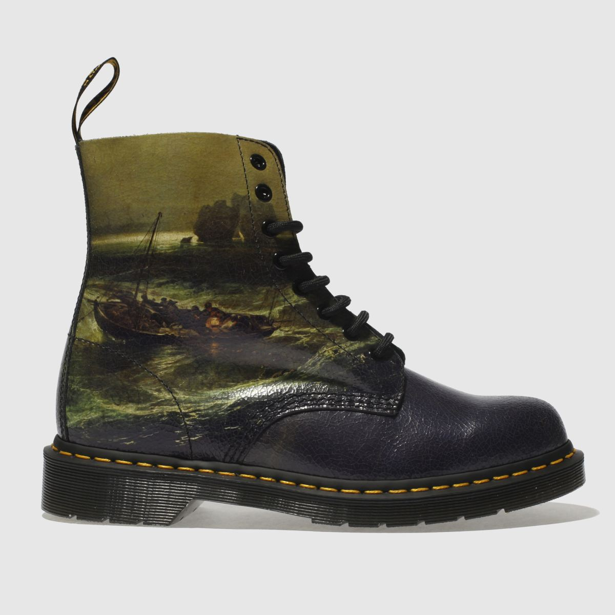 Dr Martens Black & Green Fisherman 1460 Pascal Boots