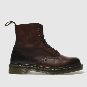 Dr Martens Burgundy Pascal 8 Eye Mens Boots